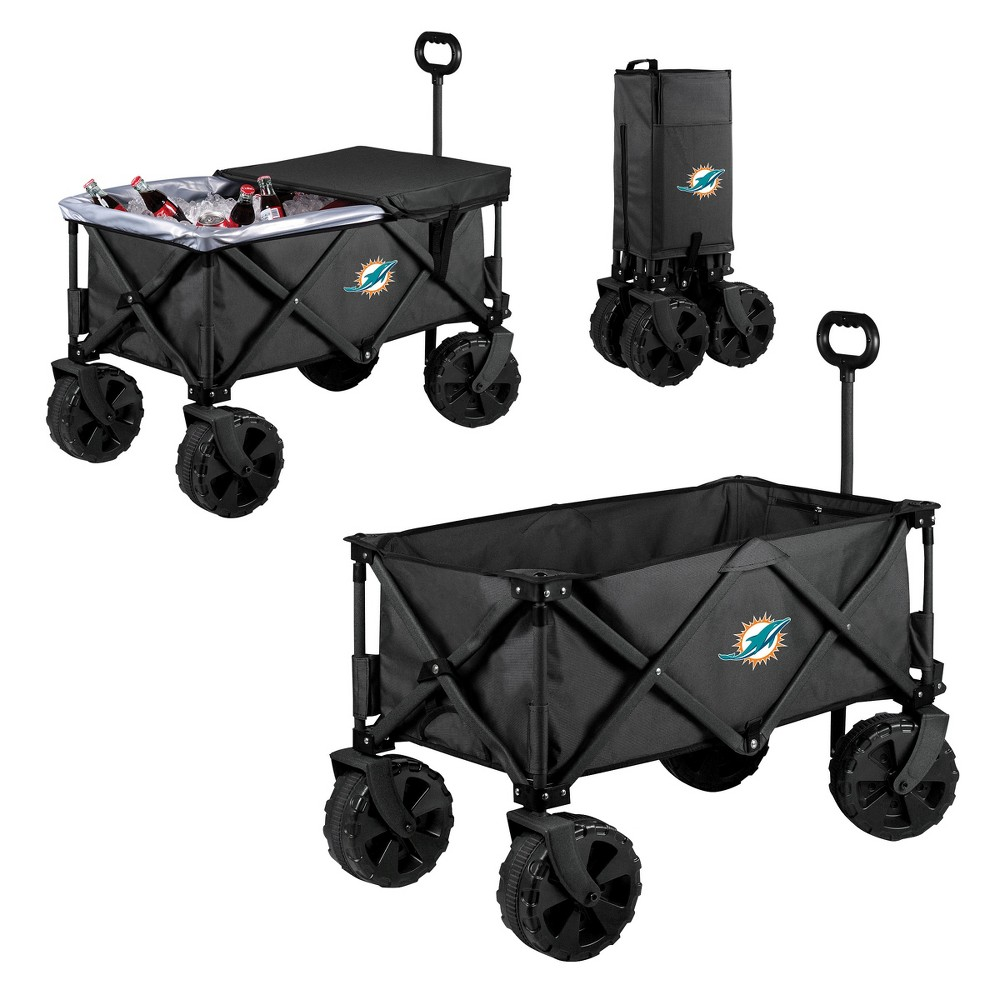 NFL Miami Dolphins Picnic Time Elite Cooler with All-Terrain Wheels - Dark Gray