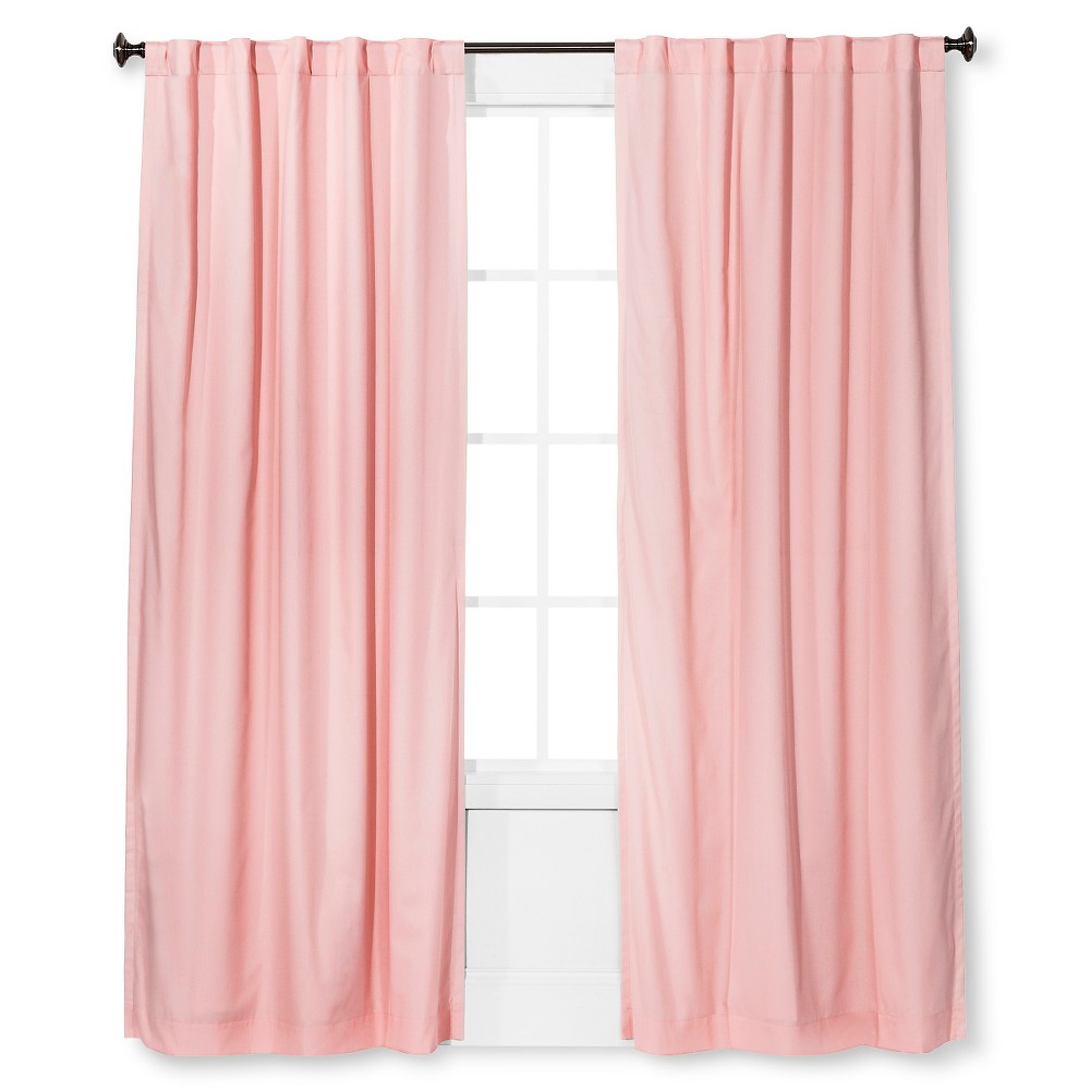 Twill Blackout Curtain Panel Light Pink (42