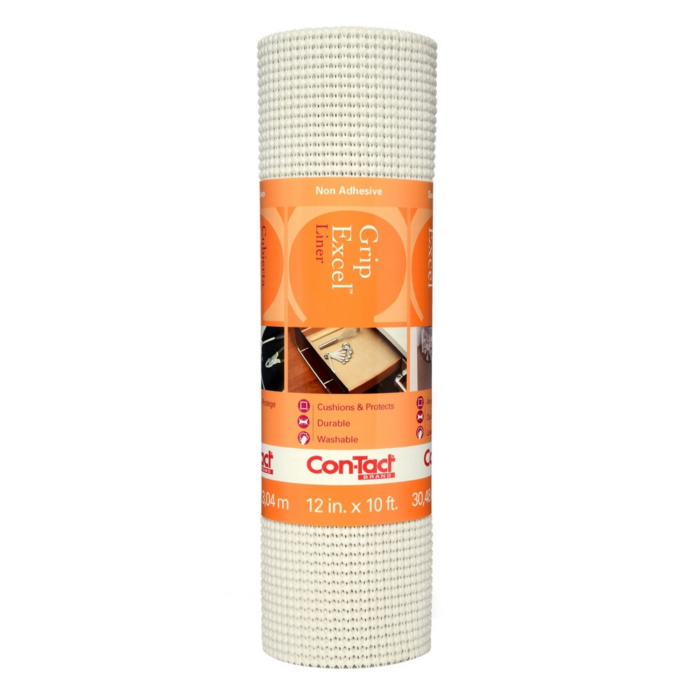 Image of Con-Tact Brand Grip Premium Non-Adhesive Shelf Liner- Excel Grip White (12''x 10')