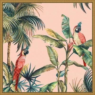 "16"" x 16"" Tropicano II by Eva Watts Framed Canvas Wall Art - Amanti Art"