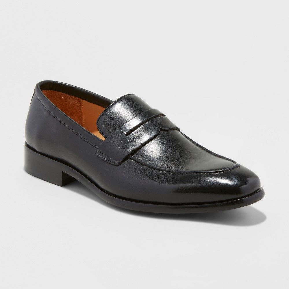 Men's Washington Loafer Leather Shoes - Goodfellow & Co Black 9.5