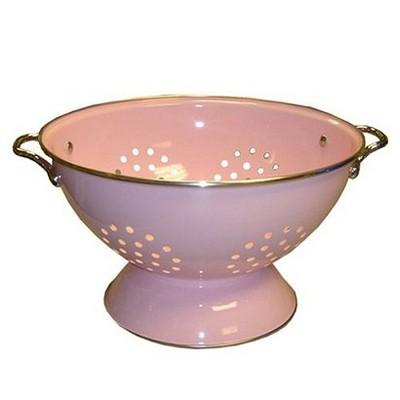 Enamel/ Stainless Steel Colander - Pink (1.5-qt.)