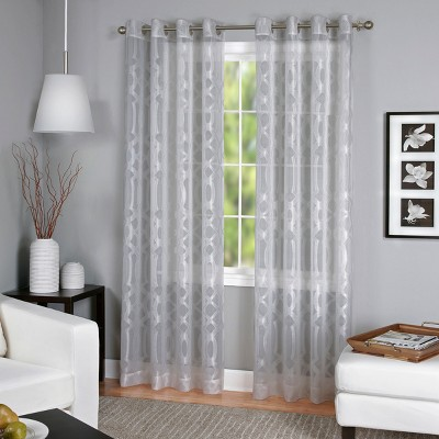 Latique Light Filtering Sheer Window Curtain Panel - Elrene Home Fashions