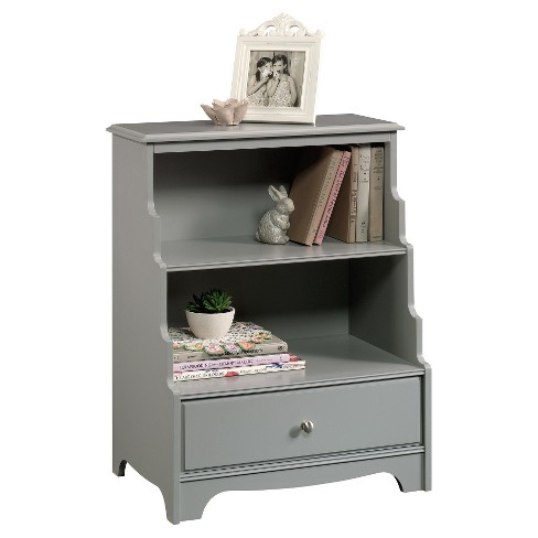 """Eden Rue 29.7"""" Accent Bookcase with Stepped Back Mottif - Gray - Sauder - image 1 of 1"""