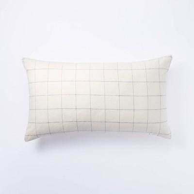 Lumbar Windowpane Check Pillow Cream - Threshold™ designed with Studio McGee