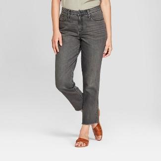 Women's High-Rise Straight Leg Jeans - Universal Thread™ Black Wash 16