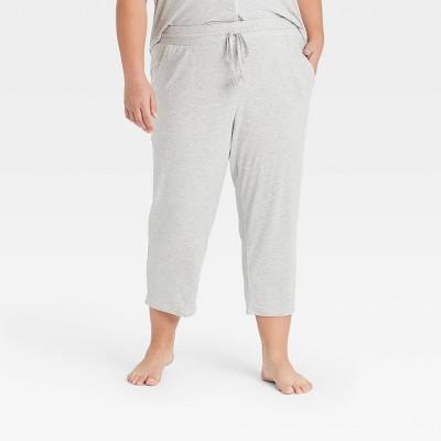 Women's Plus Size Beautifully Soft Crop Pajama Pants - Stars Above™ Gray 2X