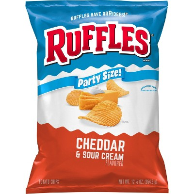 Ruffles Cheddar And Sour Cream Chips - 13oz