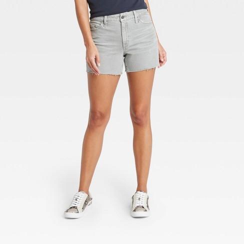 Women's High-Rise Midi Jean Shorts - Universal Thread™ - image 1 of 3