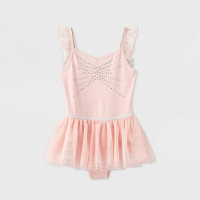 Girls' Dance Skirted Leotard - More Than Magic™ Pink XS