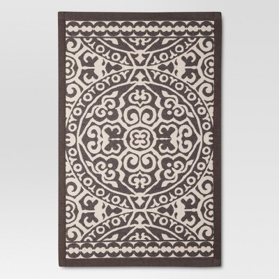 Gray Floral rugs (2'10 x20'0 )- Threshold™