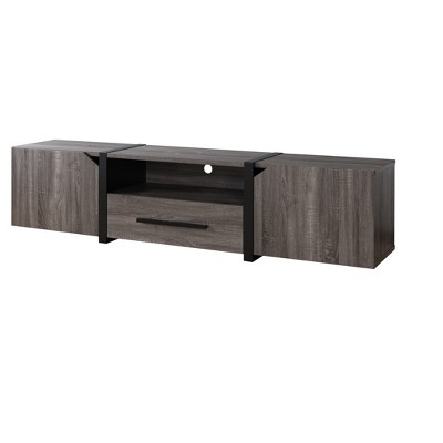 """Miran Contemporary TV Stand for TVs up to 80"""" Distressed Gray - HOMES: Inside + Out"""