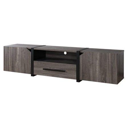 """81"""" Miran Contemporary TV Stand Distressed Gray - ioHOMES - image 1 of 4"""