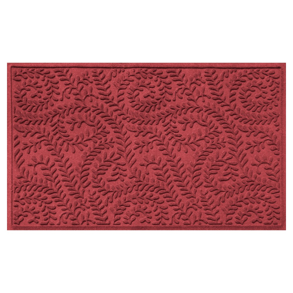 Cardinal (Red) Botanical Doormat - (3'X5') - Bungalow Flooring