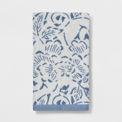 Floral Design Hand Towels Blue - Threshold™