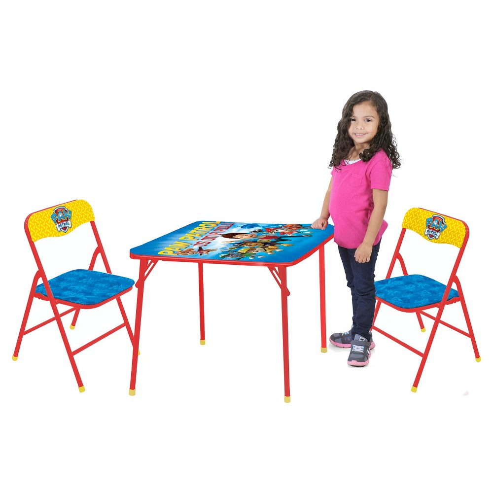 Paw Patrol Table and Chair (Set of 3) - Nickelodeon, Blue