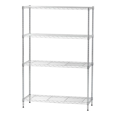 IRIS Metal Wire Shelving Unit Silver