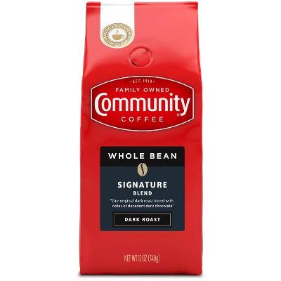 Community Coffee Dark Roast Whole Bean Coffee - 12oz