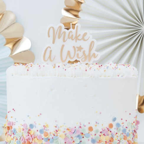"""""""Make A Wish"""" Party Candle Gold - image 1 of 2"""
