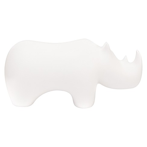 Hand Made Modern - Rhino Figurine - Unfinished White - image 1 of 1
