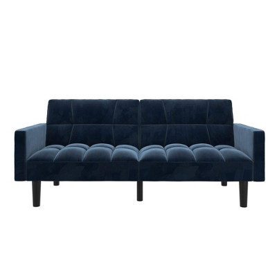 Holly Convertible Sofa Sleeper Futon with Arms - Room & Joy