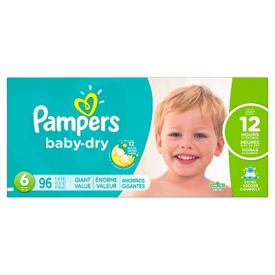 Pampers Baby Dry Diapers, Giant Pack - Size 6 (96 ct)