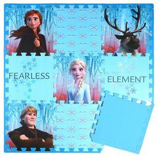 Disney Frozen 2 9pc Tile Foam Interlocking Fitness Mats