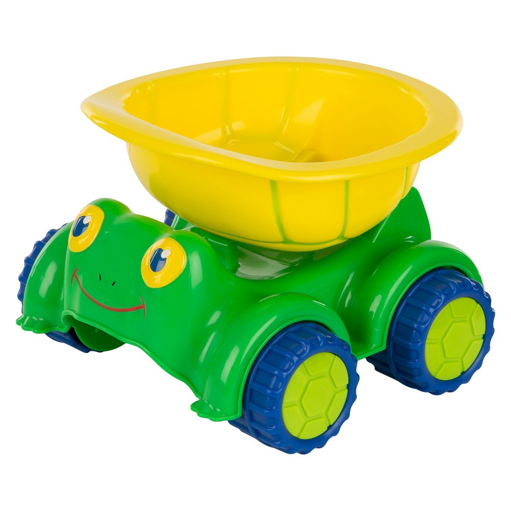 Melissa & Doug Sunny Patch Tapper Turtle Dump Truck Construction Vehicle, Multi-Colored