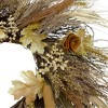Northlight Cattail and Wheat Twig Artificial Wreath, Brown 24-Inch - image 3 of 4
