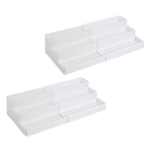 mDesign Expandable Kitchen Cabinet, Pantry Organizer/Spice Rack, 2 Pack - image 1 of 4