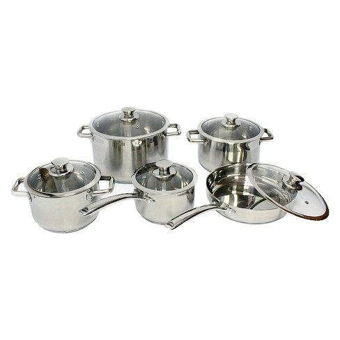 Gourmet Chef 10 Piece Stainless Steel Cookware Set - image 1 of 1