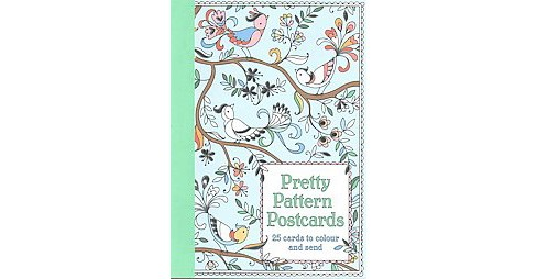 Pretty Pattern Postcards Adult Coloring Book: 25 Cards to Color and Send - image 1 of 1