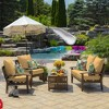 Shirt Texture Deep Seat Outdoor Cushion Set Yellow - Arden Selections - image 4 of 4