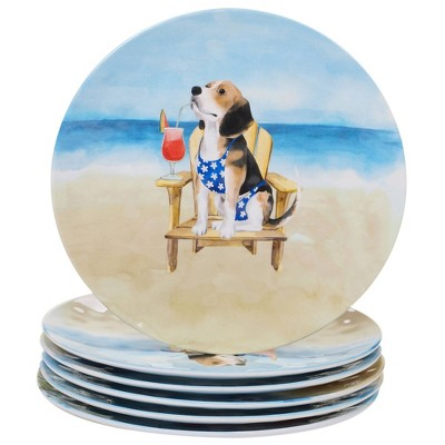 "11"" 6pk Melamine Hot Dogs Dinner Plates - Certified International"