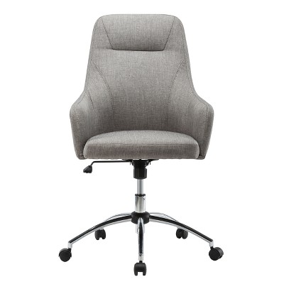 Attrayant Comfy Height Adjustable Rolling Office Desk Chair  Gray  Techni Mobili