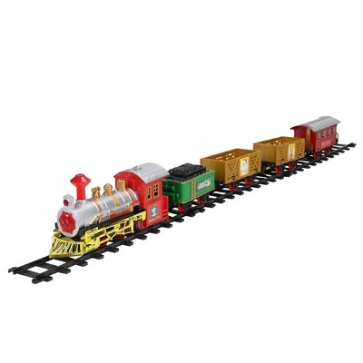 Northlight 16-Piece Battery Operated Lighted and Animated Christmas Express Train Set with Sound
