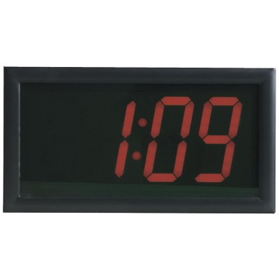 School Smart LED Wall Clock with Remote Control, 7 x 13 Inches, Red Digits