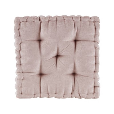 """20""""x20"""" Oversize Diah Poly Chenille Square Floor Pillow"""