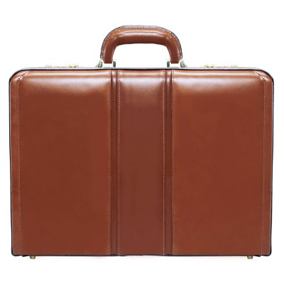 "McKlein Daley Leather 3.5"" Attache Briefcase - Brown"
