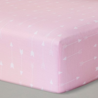 Fitted Crib Sheet Arrows - Cloud Island™ - Pink