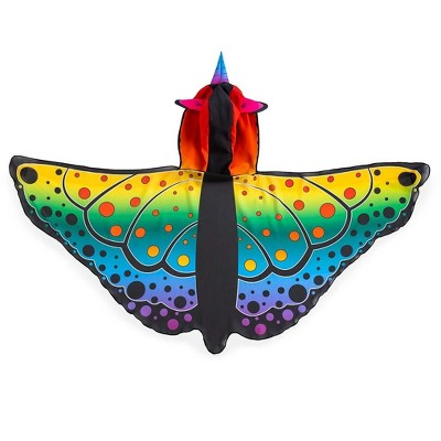 HearthSong Rainbow Butterfly Unicorn Wings for Kids Imaginative Play