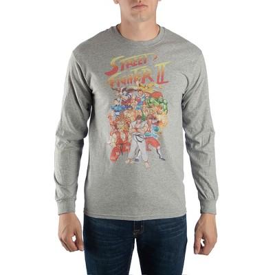 Street Fighter 2 Original Characters Long Sleeve T-shirt