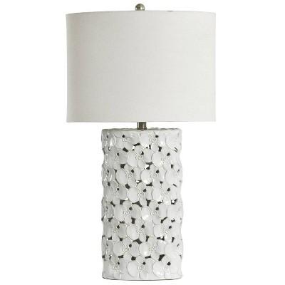 Halifax Ceramic Table Lamp White - StyleCraft