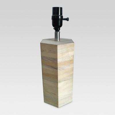 Modern Wood Small Lamp Base Natural Wood Lamp Only - Threshold™