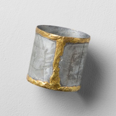 Galvanized Napkin Ring With Gold Welding - Hearth & Hand™ with Magnolia