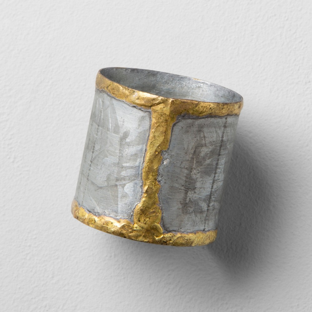 Galvanized Napkin Ring With Gold Welding - Hearth & Hand with Magnolia