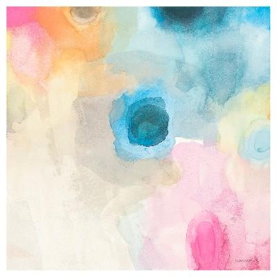 Dew Petals I Unframed Wall Canvas Art (24X24)