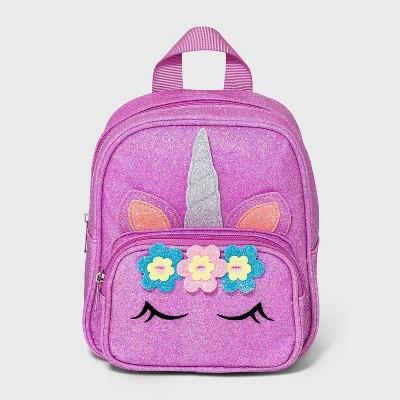 Toddler Girls' Glitter Unicorn Backpack - Cat & Jack™ Purple