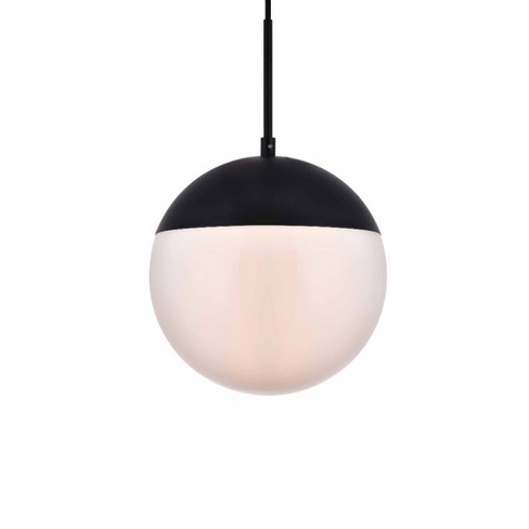 "Elegant Lighting LD6032 Eclipse Single Light 10"" Wide Pendant with Frosted Glass - image 1 of 3"