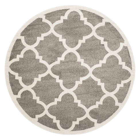 Arles Rectangle Patio Rug - Light Gray/Beige - Safavieh® - image 1 of 3